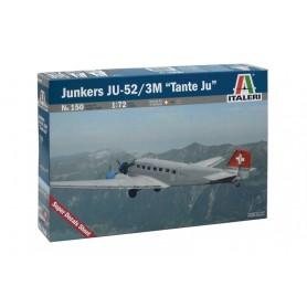 "Maqueta Italeri Avión Junkers Lufthansa Ju-52/3m ""Tante Ju"" 1/72"