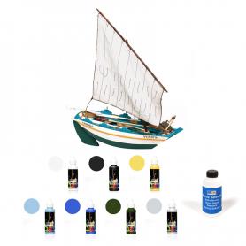 Pack Maqueta Barca Occre CARMIÑA con pinturas y barniz