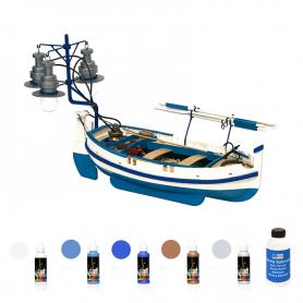 Pack Maqueta Barca Occre CALELLA con pinturas y barniz