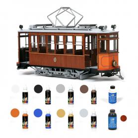 Pack Tranvía Occre SÓLLER con pinturas, tinte y barniz