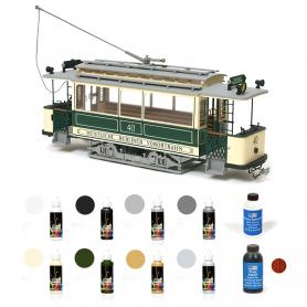 Pack Tranvía Occre BERLÍN con pinturas, tinte y barniz