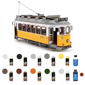 Pack Tranvía Occre LISBOA con pinturas, tinte y barniz