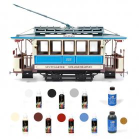Pack Tranvía Occre STUTTGART con pinturas, tinte y barniz