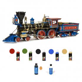 Pack Locomotora Occre JUPITER con pinturas, tinte y barniz