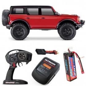 Pack Traxxas TRX-4 Ford Bronco 2021 Rojo con 3 accesorios