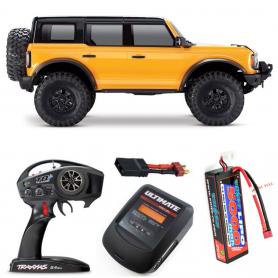 Pack Traxxas TRX-4 Ford Bronco 2021 Naranja con 3 accesorios
