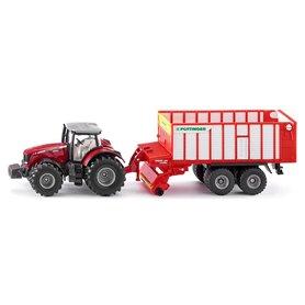 Tractor Massey Ferguson con Pöttinger Jumbo - SIKU
