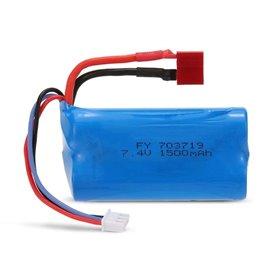 Batería Lipo 7,4V 1500mAh (TDean) para Wltoys Cross Country y Crawler Storm