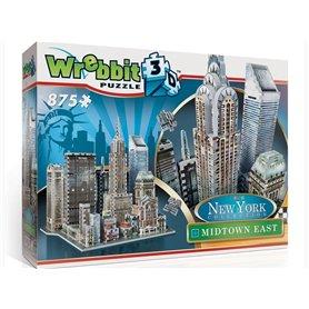 Wrebbit - Puzzle 3D Manhattan Este 875 piezas