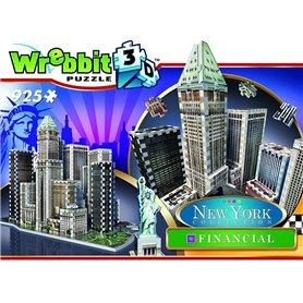 Wrebbit - Puzzle 3D New York Financial 925 piezas