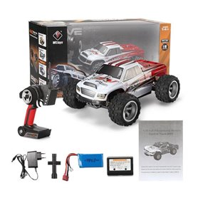 Coche rc monster truck 1/18 brave pro 70 km/h WLToys
