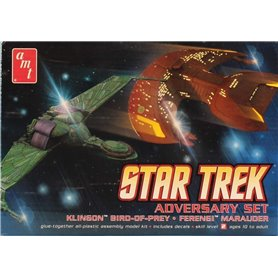 Star Trek Adversary Set Klingon Bird of Prey & Ferengi Marauder