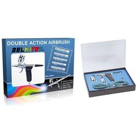 Kit Aerógrafo pistola de gravedad (doble acción) para modelismo