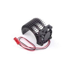 Disipador Motor Coche RC con Ventilador Lateral 3x3cm (JR)