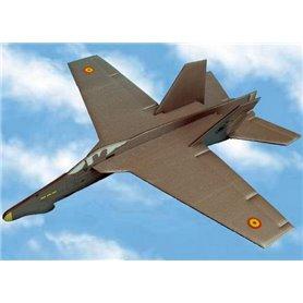 Avion alas españolas F-18 Hornet Patrulla Aguila con lanzador