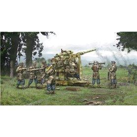 Tanque 1/56 8.8 cm Flak 37 with crew - ITALERI