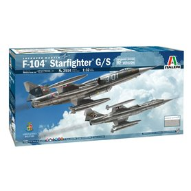 Maqueta Avión Militar Italeri F-104 STARFIGHTER G/S 1/32 (Upgraded Edition)