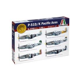 Maqueta Avión Militar Italeri P51 D7K PACIFIC ACES 1/48