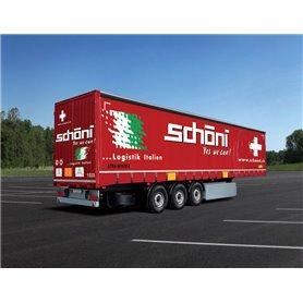 """Camion 1/24 (Curtainside Trailer """"schoeni.ch) - ITALERI"""