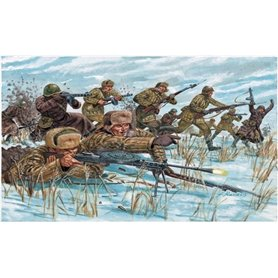 SOLDIERS 1/72 WWII-RUSSIAN INFANTRY (WINTER UNIF)