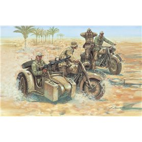 SOLDIERS 1/72 WWII- GERMAN MOTORCYCLES