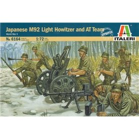 SOLDIERS 1/72 WWII- Japanese M92 Light Howitzer and AT Team