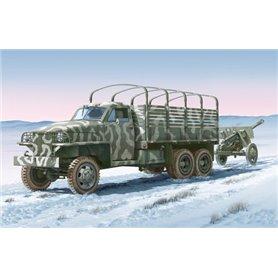 Camion militar 1/35 Land Lease U.S. & ZIS-3 arma - ITALERI