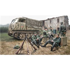 Camion militar 1/35 Steyr RSO/01 with german soldiers - ITALERI