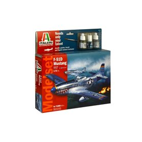 Model Set avion 1/72 F51 D Mustang - ITALERI