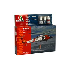Kit Model Set Helicóptero Guardacostas Italeri HH-60J U.S. 1/72