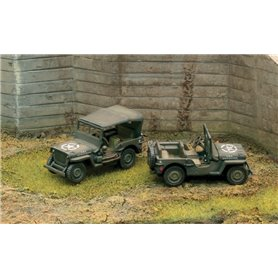 Camion militar 1/72 Willys Jeep 1/4 Ton 4x4 (2 Fast assembly) - ITALERI