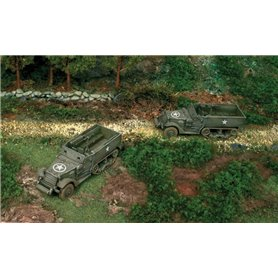 Camiones militares 1/72 M3 Half Track (2 fast assembly mod) ITALERI