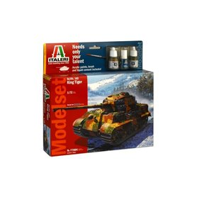 Model set tanque T 1/72 Sd.Kfz. 182 King Tiger (WWII) - ITALERI