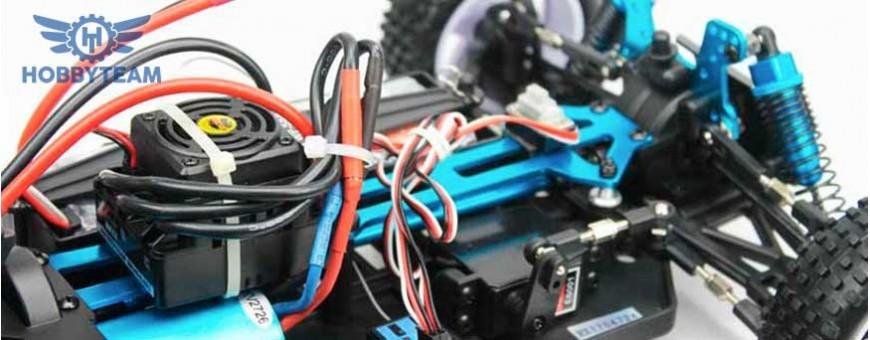 Emisoras, servos, motores y variadores