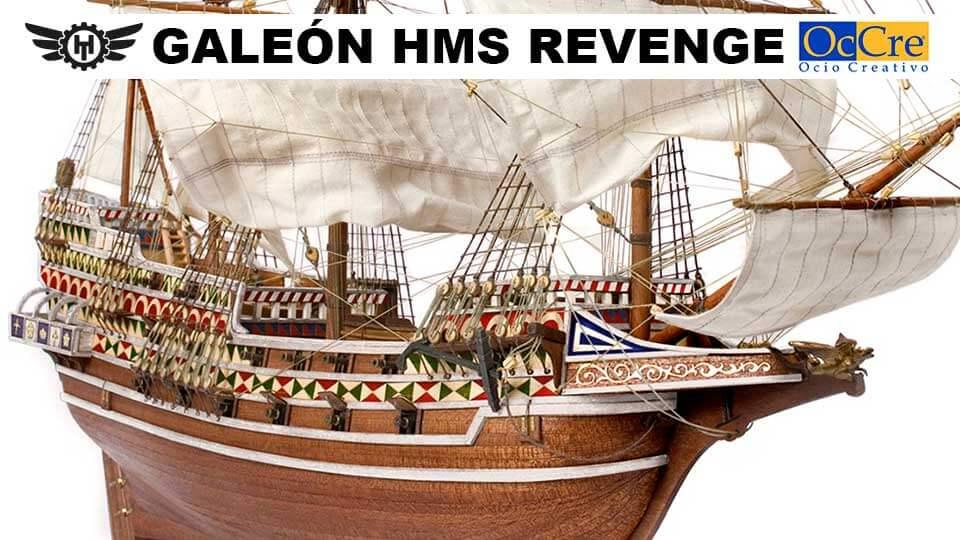 Maqueta Barco de Madera Galeón HMS Revenge Occre