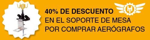 Promoción oferta soporte de aerógrafo al -40% de descuento comprando aerógrafos en Hobbyteam