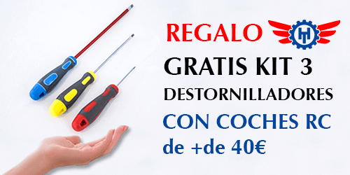 Regalo Hobbyteam de kit de 3 destornilladores con coches superiores a 40€